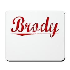 Brody, Vintage Red Mousepad