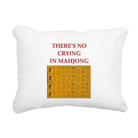 mahjong gfts Rectangular Canvas Pillow