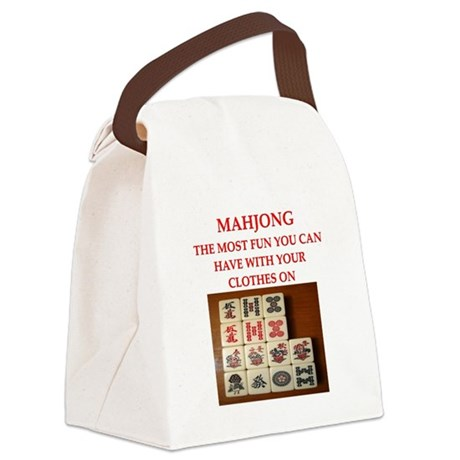 MAHJONG joke Canvas Lunch Bag