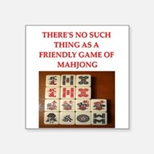 "MAHJONG.png Square Sticker 3"" x 3"""