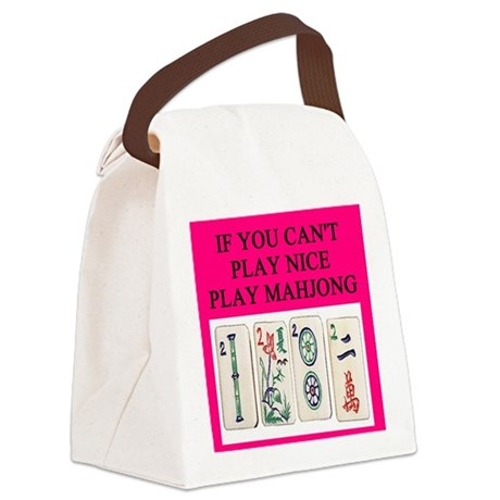 mahjong player gifts t-shirts Canvas Lunch Bag