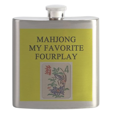 mahjong player gifts t-shirts Flask