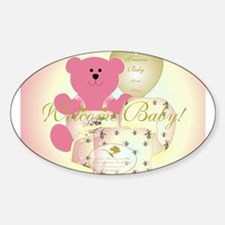 Baby Bear Welcome! Oval Decal