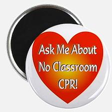 No Classroom CPR Magnet