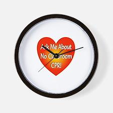 No Classroom CPR Wall Clock