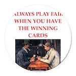 card game Round Car Magnet