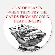 bridge poker joke Round Car Magnet