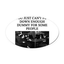 duplicate bridge player gifts Oval Car Magnet