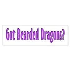 Got Bearded Dragons? (purple) Bumper Bumper Sticker