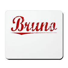 Bruno, Vintage Red Mousepad