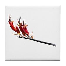 Flax Flower Tile Coaster