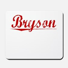 Bryson, Vintage Red Mousepad