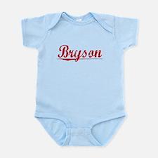Bryson, Vintage Red Infant Bodysuit