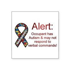 """Autism Alert"" Rectangle Sticker"