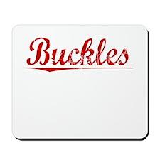 Buckles, Vintage Red Mousepad