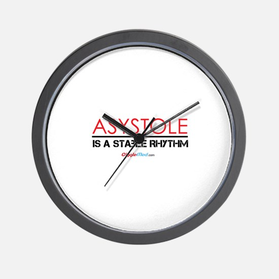 Asystole 3 Wall Clock