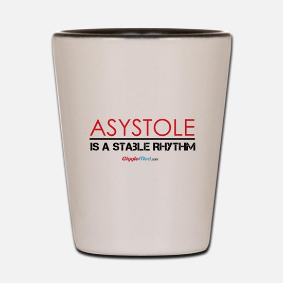 Asystole 3 Shot Glass