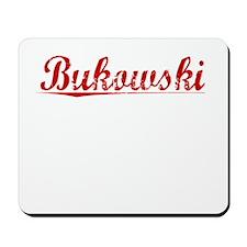 Bukowski, Vintage Red Mousepad
