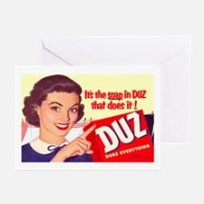 DUZ Detergent Ad Greeting Cards (Pk of 10)