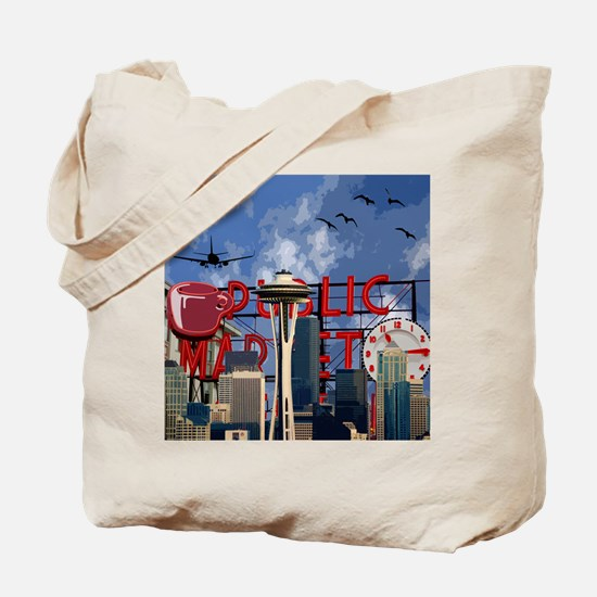 Seattle Icons Tote Bag