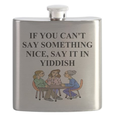 funny jewish joke yiddish proverb Flask