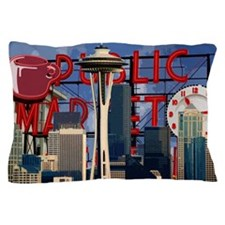 Seattle Icons Pillow Case