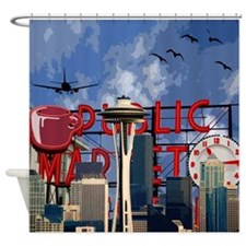 Seattle Icons Shower Curtain