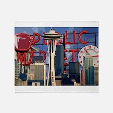 Seattle Icons Throw Blanket