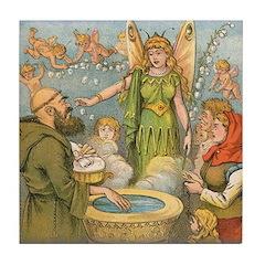 Fairy Christening Tile