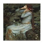 Ophelia with Flowers Ceramic Tile