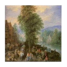 Peasants at Market Ceramic Tile