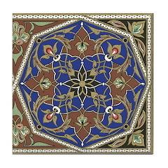 Medieval Florette Ceramic Tile