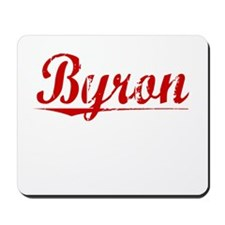 Byron, Vintage Red Mousepad