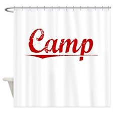 Camp, Vintage Red Shower Curtain