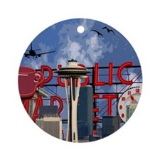 Seattle Icons Ornament (Round)
