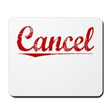 Cancel, Vintage Red Mousepad