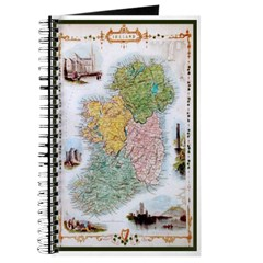 Old Irish Counties Map Journal