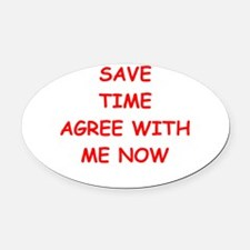 TIME Oval Car Magnet