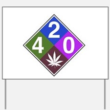 420 caution blue.png Yard Sign