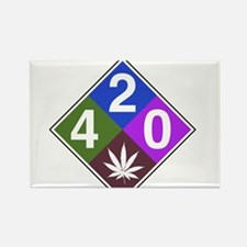 420 caution blue.png Rectangle Magnet