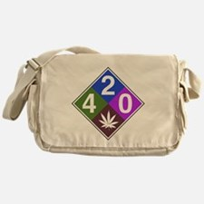 420 caution blue.png Messenger Bag