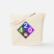 420 caution blue.png Tote Bag