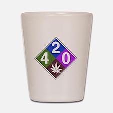 420 caution blue.png Shot Glass