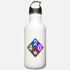 420 caution blue.png Water Bottle