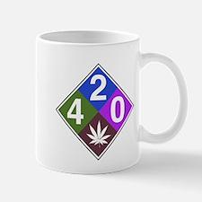 420 caution blue.png Mug