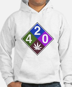 420 caution blue.png Hoodie
