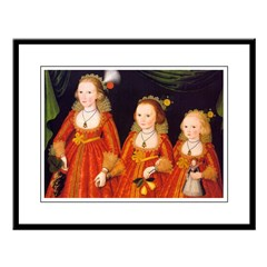 Three Young Girls, 1620 Framed Print