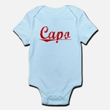 Capo, Vintage Red Infant Bodysuit