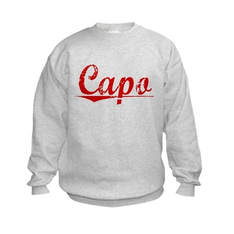 Capo, Vintage Red Kids Sweatshirt