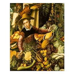 Medieval Vegetable Vendor Print